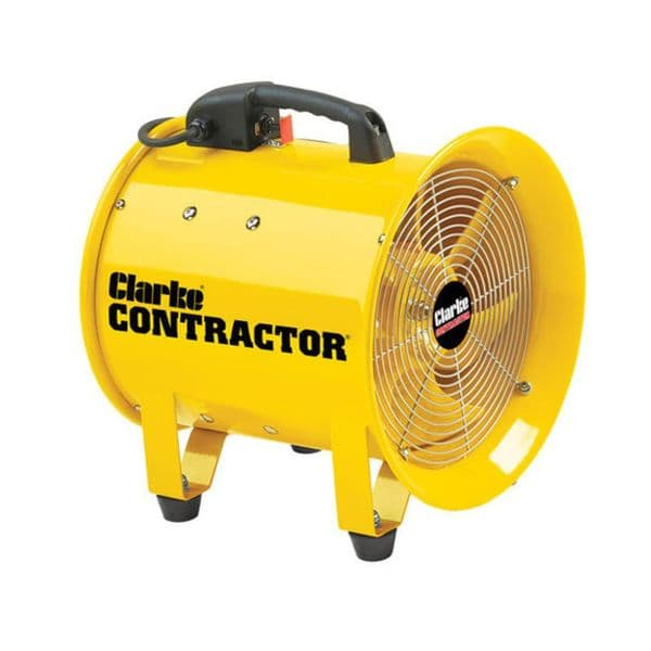 Clarke 3230481 12 Flexible PVC Duct for Contractor CON305 and CON350 Ventilation Fans - Yellow